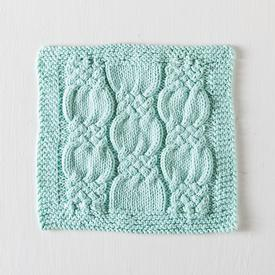 Knotted Cables Washcloth
