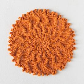 Cabled Sunburst Washcloth
