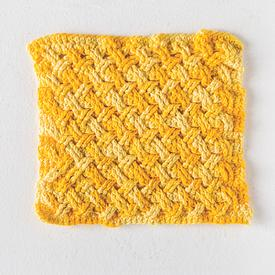 Crochet Celtic Weave Dishcloth