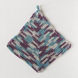Crochet Mitered Square Dishcloth