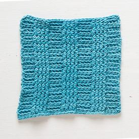 Crochet Rib Dishcloth
