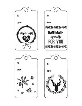 Printable Holiday Gift Tags 2017