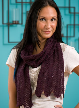 Lace 1 2 3  Throw & Scarf  Pattern