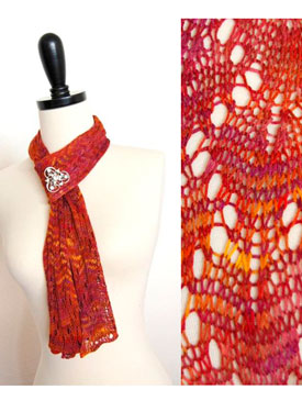 Easy Bamboo Lace Scarf Pattern