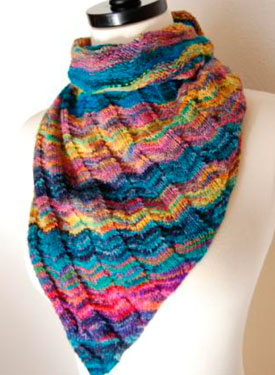 Asymmetrical Triangle Shawl Pattern