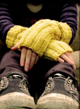 Grunge Gloves Pattern