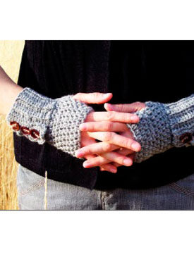 Ruffled Button Tab Gloves Pattern