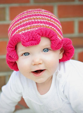 Ruffled Striped Hat Pattern
