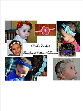 5Packs Crochet Headband Pattern Collection eBook