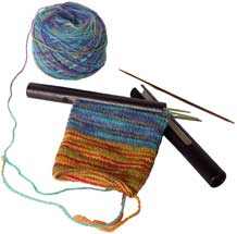 Sock Knitting Needle Holders