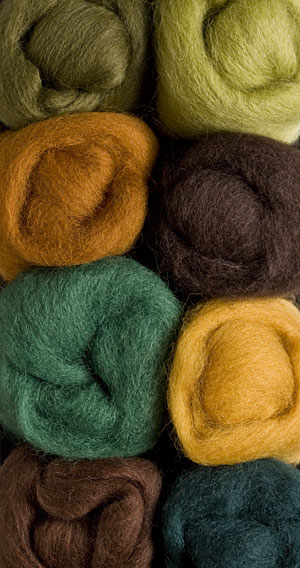 Woodsy Wool Roving Pack
