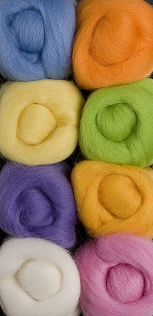 Cotton Candy Wool Roving Pack