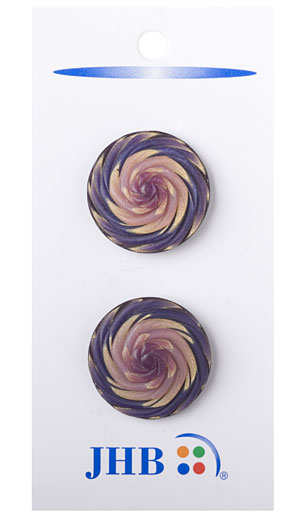 Swirler Button - Gold/Purple