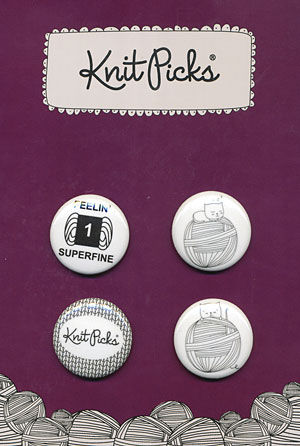 Knit Picks Pin Back Buttons