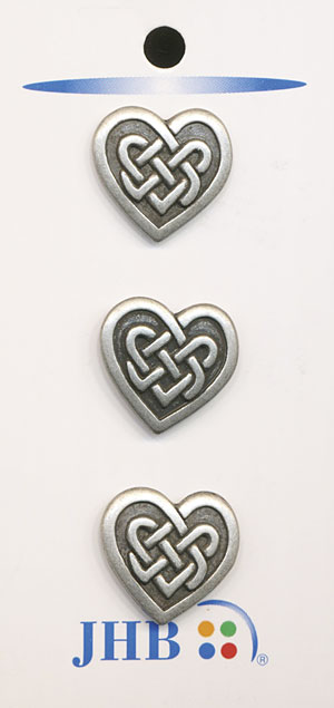 Celtic Heart Button