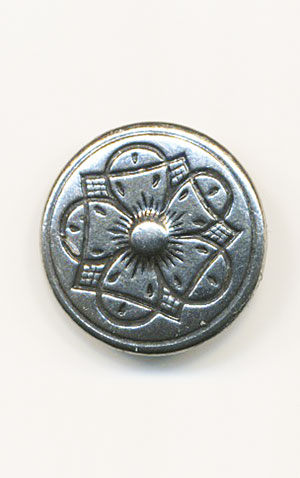 INGRID Pewter 20mm Button
