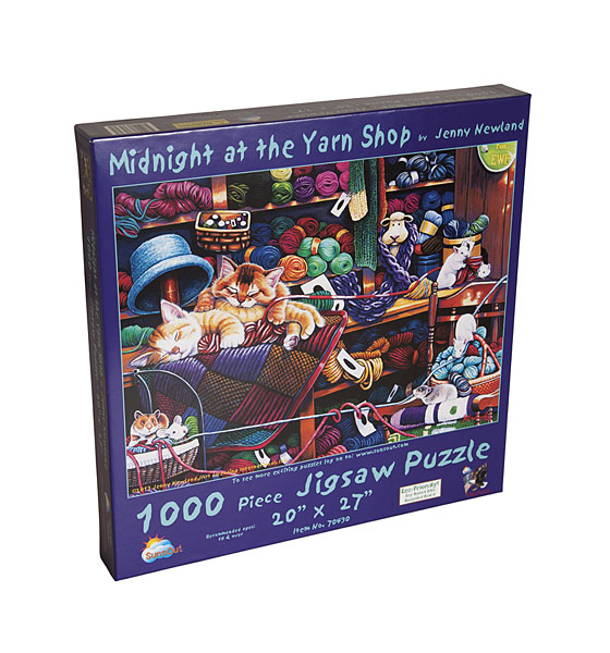 Midnight at the Yarn Shop Jigsaw Puzzle