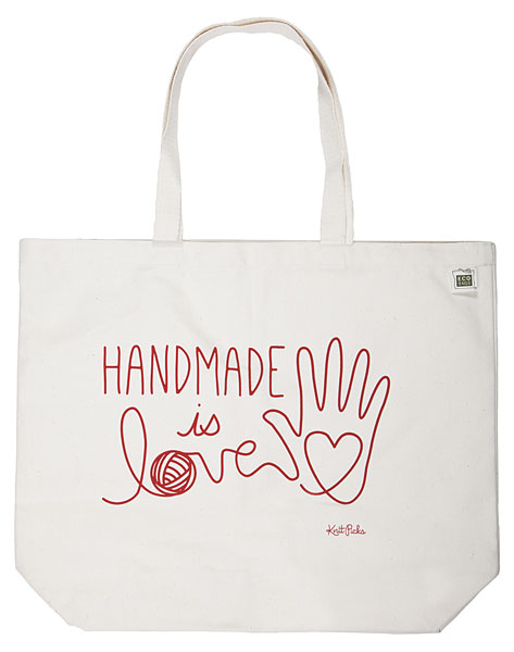Handmade is Love Tote Bag