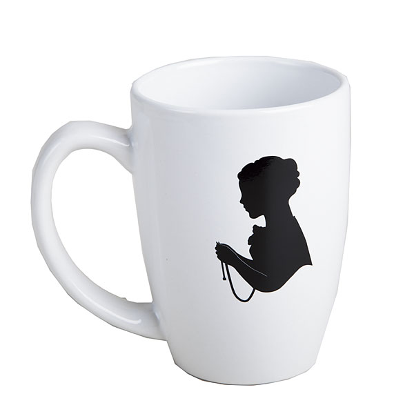 Jane Austen 14 oz Mug - White