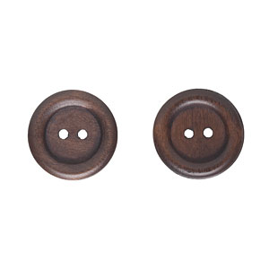 Dark Wood Buttons, 20mm