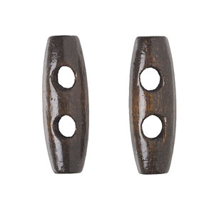Dark Brown Wood Toggle, 3cm