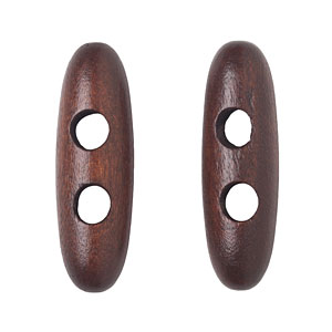 Dark Brown Wood Toggle, 4cm
