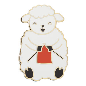 Knitting Sheep Enamel Pin