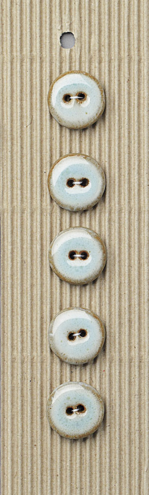 Handmade Round Turquoise Stoneware Buttons