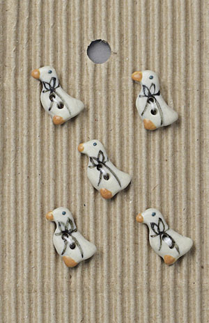 Handmade Ducklings Stoneware Buttons