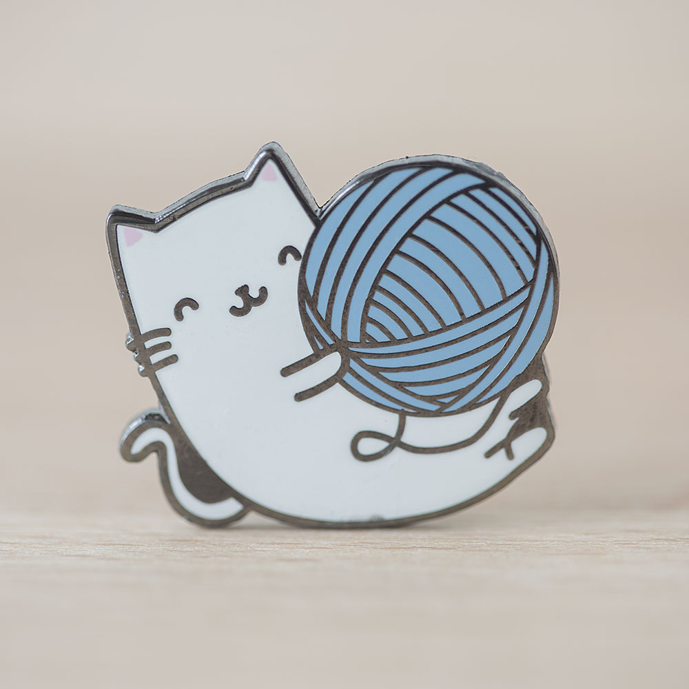 Kitty Yarn Ball Enamel Pin
