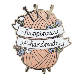 Happiness is Handmade Enamel Pin