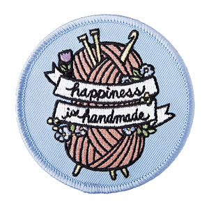 Happiness is Handmade Iron On Patch