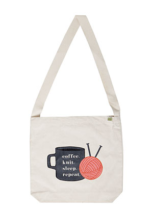 Coffee. Knit. Sleep. Repeat. - Tote Bag