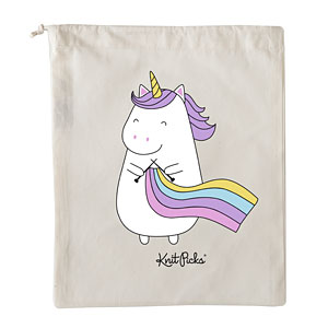 Sparkles the Knitting Unicorn - Project Bag