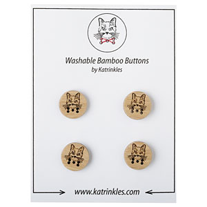 Cat Stitchable Buttons