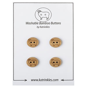Sheep Carded Buttons