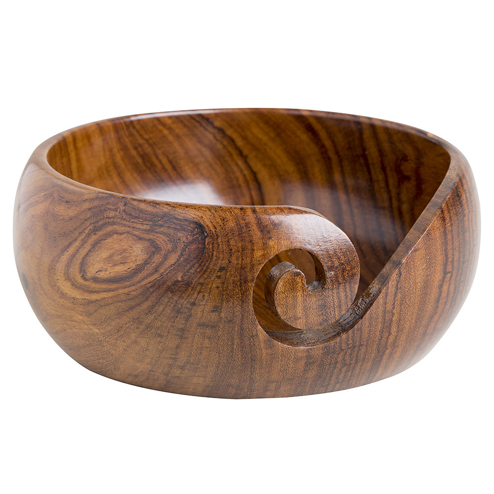 Shallow Rosewood Yarn Bowl