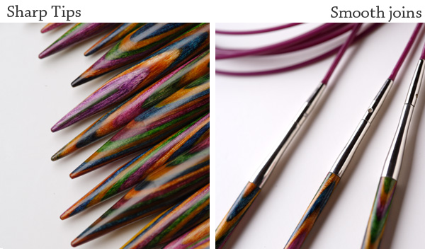 Knitting Needle Sets Circular Interchangeable Reviews : Options interchangeable rainbow wood circular knitting