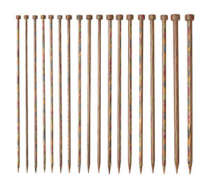 Rainbow Wood Straight Needle Set