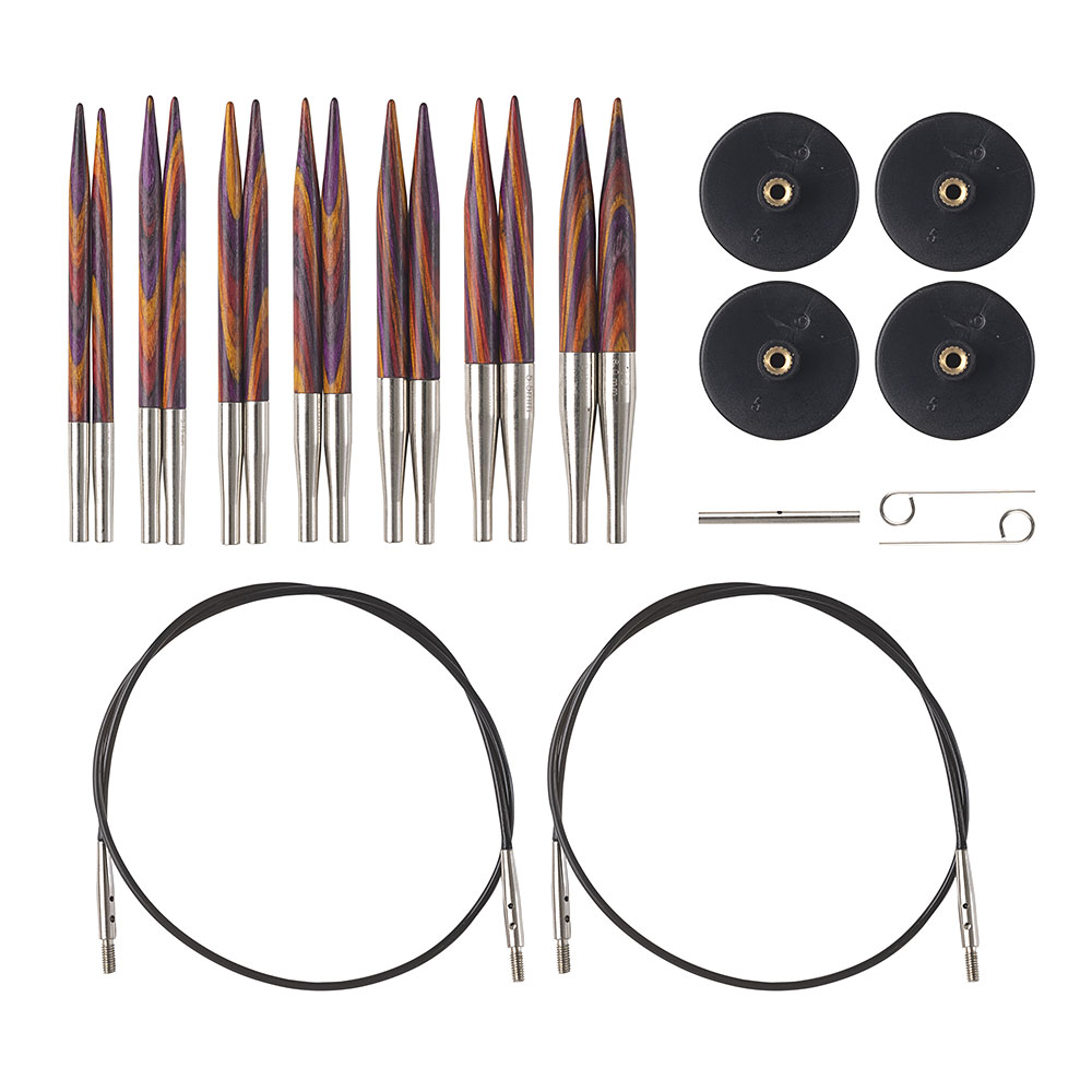 Options Short Interchangeable Radiant Circular Knitting Needle Set