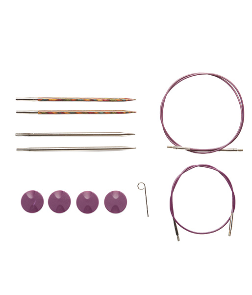 TRY IT Needle Set - Rainbow Wood and Nickel