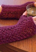 One-Skein Fingerless Lace Gloves Pattern Pattern