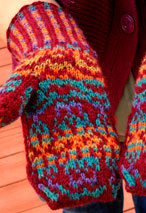 Jewelled Prism Mittens Pattern Pattern