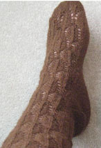 Feather Lace Socks Pattern Pattern