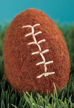 Crochet Felted Football Pattern Pattern