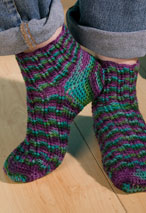 Fantasy Fair Isle Crochet Socks Pattern