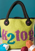 K2tog Knitting Bag Pattern
