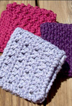 Spa Crochet Washcloths set of 3 Pattern