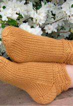 Amber Waves Slipper Socks Pattern