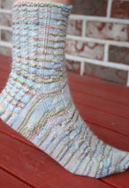 Life' s A Beach Toe Up Sock Pattern